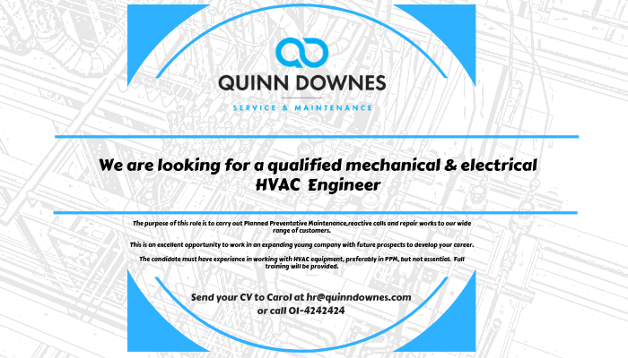We're Hiring a HVAC Engineer