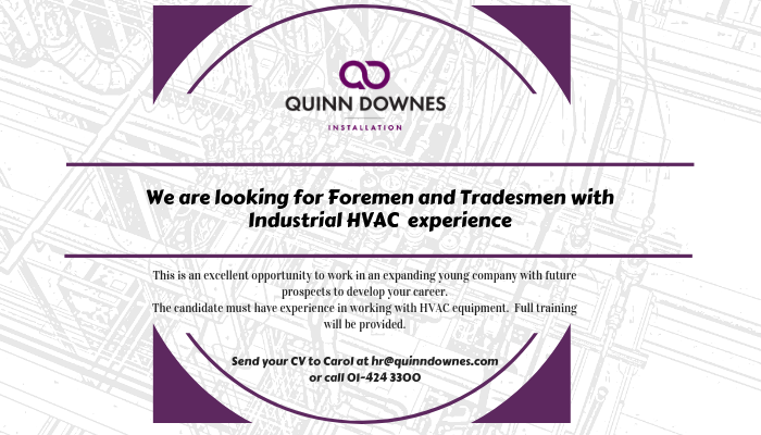 Foremen & Tradesmen wanted