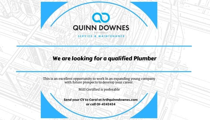 We're hiring a Plumber